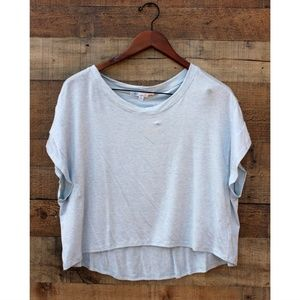 C&C California Light Blue Cropped Tee Large NEW